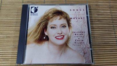 Dorian Julianne Baird Colin Tilney Songs of Mozart NIMBUS版