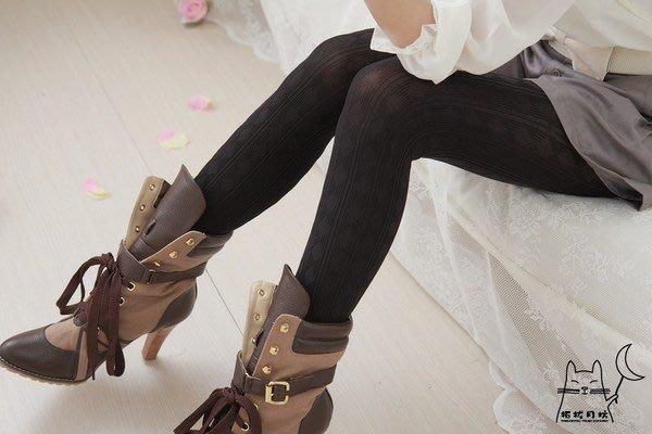 【拓拔月坊】日本製 MORE 森林女孩 柔順感 直線 菱格 厚褲襪 秋冬款~現貨!