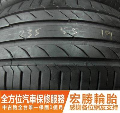 【宏勝輪胎】中古胎 落地胎 二手輪胎:B669.235 55 19 馬牌 CSC5 9成 4條 含工12000元
