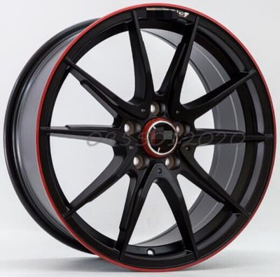全新類BENZ AMG限量紅圈5孔112 18吋鋁圈W203.W204.W205.W212.W213.W176.CLA