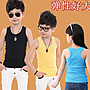 QQ羊*S314 韓版男女童工字款糖果色背心👍超彈力舒棉透氣無袖上衣👍超百搭基本款,80-160cm
