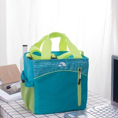 可背可提 保冷保熱2用 iqloo 湖藍色保溫袋 便當包 午餐袋 手提包 媽媽袋 保冷包(IBT5)