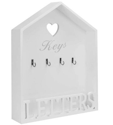 木頭製 歐式房屋 鑰匙收納盒雜物儲物盒 牆壁上鑰匙掛勾掛鉤掛鈎掛環 衣服帽子掛鉤禮品