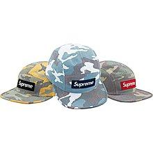 【紐約范特西】現貨 Supreme Washed Out Camo Camp Cap 五分帽 3色 藍色現貨
