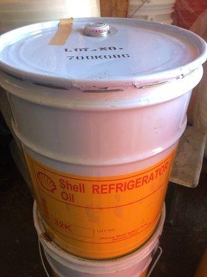 【殼牌Shell】Refrigerator oil、K 32、低溫用高級冷凍機油、20公升/桶裝【日本原裝】