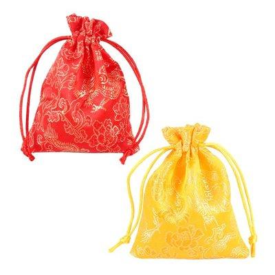 【贈品禮品】A4835 錦緞龍紋束口袋/抽繩喜糖袋/首飾禮物包/車用香包袋禮品包裝袋/過年節慶裝飾/贈品禮品