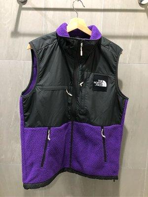 The north face Denali fleece vest紫 全新付吊牌 M號