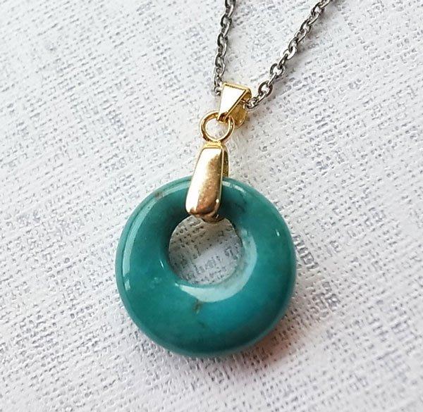 ☆采鑫天然寶石☆ **來自遠古的訊息**頂級 天然綠松石墜~極美~唯一巧緻款~極美