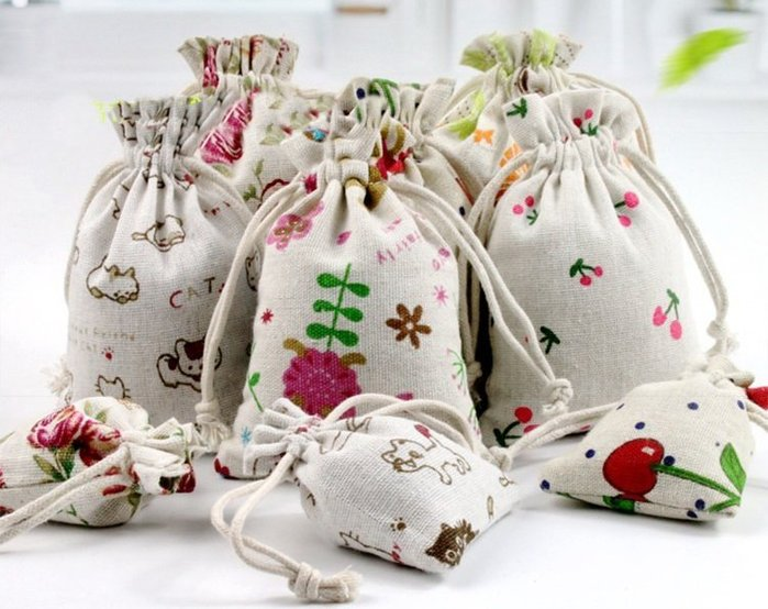【螢螢傢飾】棉麻布袋 抽繩袋 束口袋 萬用收納袋 手工皂包裝袋 拉繩袋 收納袋10x14
