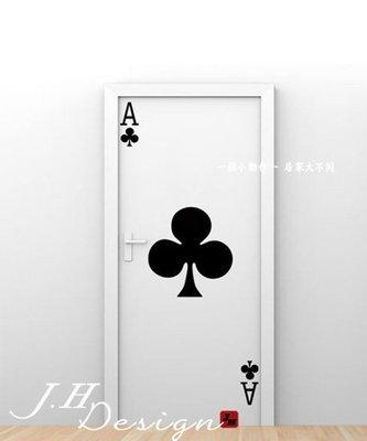 J.H壁貼☆H536樸克牌裝飾-創意系列☆牆壁玻璃櫥窗貼紙壁紙 營業場所 居家門佈置