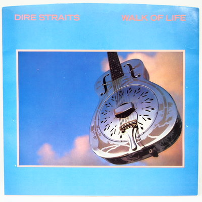 45 rpm 7吋單曲 Dire Staraits【Walk of Life】1985 美國首版