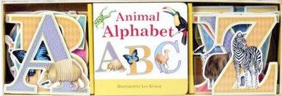 *小P書樂園* Animal Alphabet Book & Learning Play Set