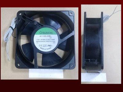 瘋~ 全新 SUNON 12cm x 12cm x 3.8cm 110V 機櫃 風扇 散熱風扇 2P 超強 軸承