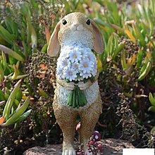 創意兔子擺件 情侶禮品 生日禮物婚禮擺件 森系田園裝飾新年 Zakka擺件 樹脂擺件 桌面擺件 園藝裝飾 交換禮物