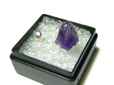 【Texture & Nobleness 低調與奢華】寶石教學標本&原礦  紫水晶 A-03