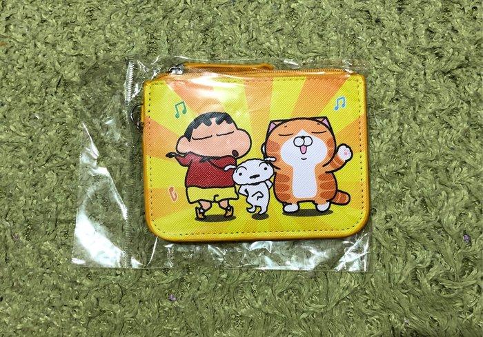 【OTOKO Men's Boutique】蠟筆小新x白爛貓987動感樂園:基本款扁型零錢包/全新/正版
