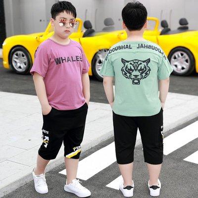 hello小店-胖童短袖t恤男童中大童夏季薄款兒童加肥加大碼胖孩子寬松體恤潮#兒童上衣#襯衫#短袖t恤#