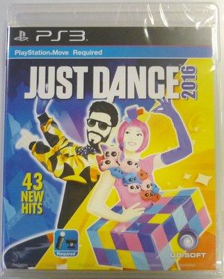 PS3 舞力全開 2016 Just Dance 2016 (英文亞版) MOVE專用 (全新未拆商品)【台中大眾電玩】