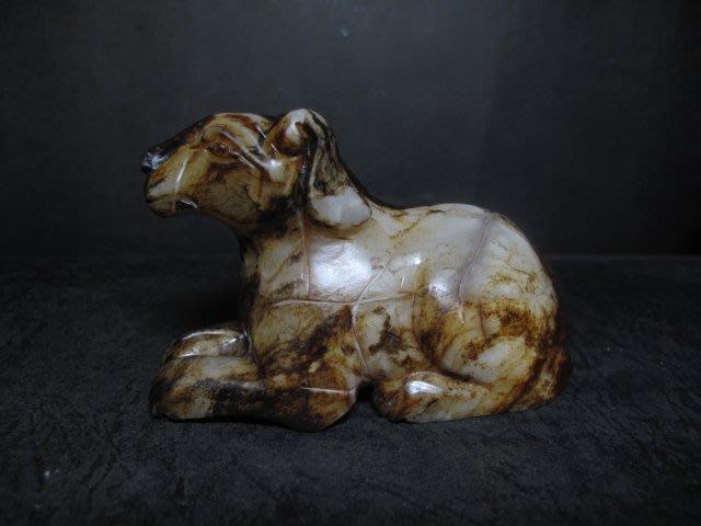 和闐玉雕◎  靈犬 狗來富