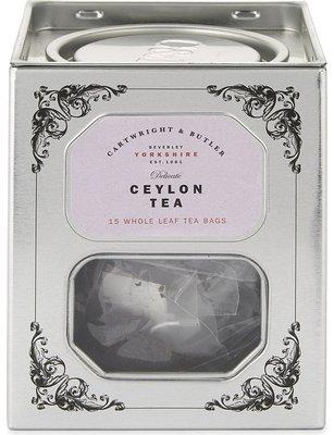 [要預購] 英國代購 英國CARTWRIGHT & BUTLER 鐵罐裝錫蘭茶 15袋 45g