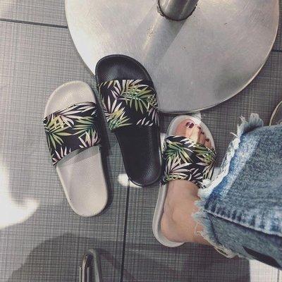 拖鞋女時尚學生ins外穿個性平底百搭沙灘外出涼拖 【創意家居】