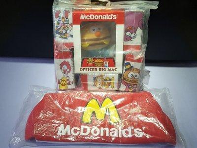 2010 年麥當勞叔叔、 滑嘟嘟 OFFICAL BIG MAC & Friends毛公仔連環保袋、全新未開封。實物如圖