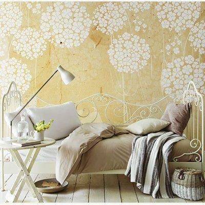 【夏法羅 】童趣系列  典雅繡球花壁紙  大幅壁紙輸出 簡約柔和典雅 兒童房 臥室 S-B