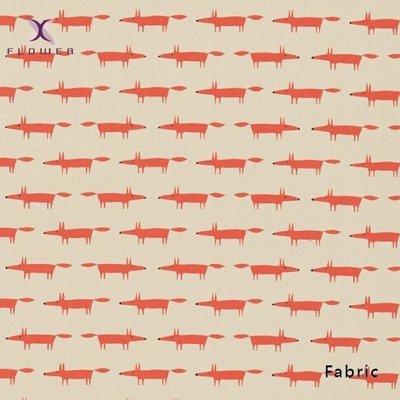 【夏法羅 傢飾】童趣‧小狐狸窗簾布品 英國進口期貨 印花布窗簾 羅馬簾 BG-5863