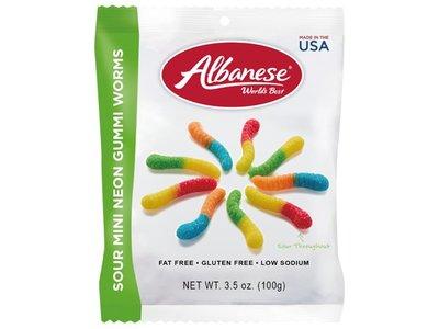 #悠西將# {現貨} 美國 Albanese 艾爾巴軟糖系列 蟲蟲酸軟糖 毛毛蟲酸軟糖 小蟲酸軟糖 愛爾巴 美國軟糖