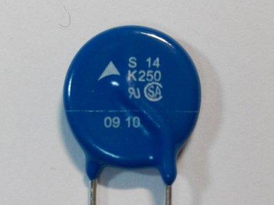(5個) 突波吸收器 S14K250 AC250V DC320V 壓敏電阻