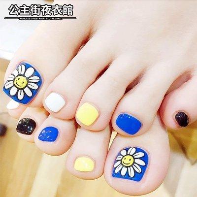 美甲 新品 腳趾甲 藍寶石太陽花 腳趾...