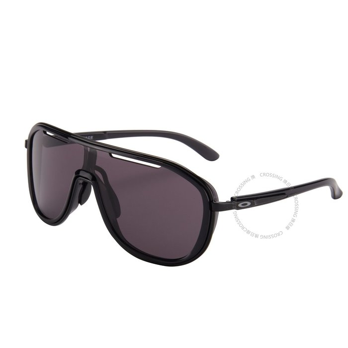 Oakley Outpace OO4133-0126 Polished Black | Warm Grey Lens