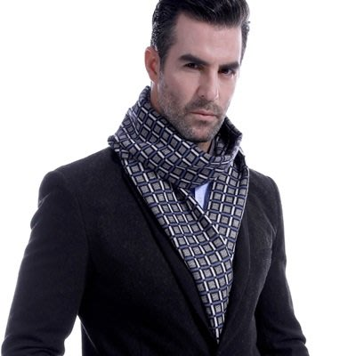 羊毛 圍 巾-英倫時尚幾何方格秋冬防寒男女披肩5色73ts7[獨家進口][米蘭精品]