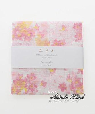 Ariels Wish-日本Afternoon Tea限定春櫻浪漫粉紅色廚房用品吸水快乾純棉抹布擦碗布-日本製-絕版品