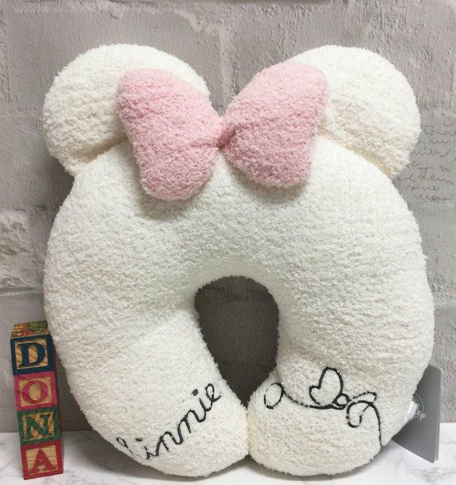 【Dona日貨】日本迪士尼store限定  米老鼠米妮 MINNIE 抱枕/頸枕/U型枕 F36