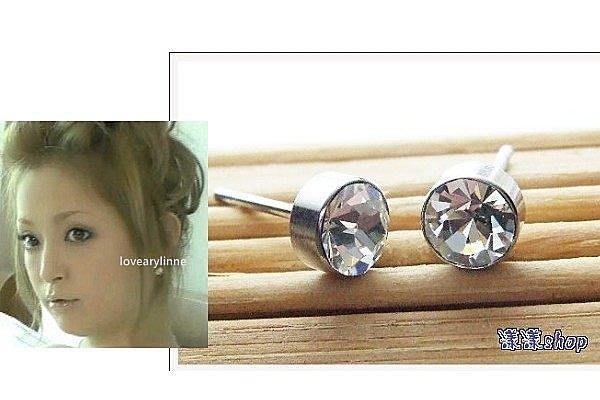 *。漾漾小舖*。5mm時尚全鋼品質優良一體成型鋼針耳環【A1633】☆耳骨可用☆不過敏