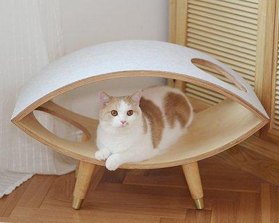 家裡的小怪獸   CATSCITY原創設計北歐風簡約貓爬架木制毛氈貓之眼人貓共用家具