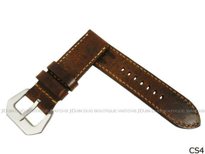 金鐸精品~CS4 沛納海 PANERAI 1952年瑞士彈藥帶牛皮特製手工皮錶帶
