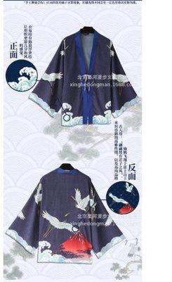 【紫色風鈴3.3】動漫原創日式和風羽織仙鶴開衫家居防曬休閒睡衣外套