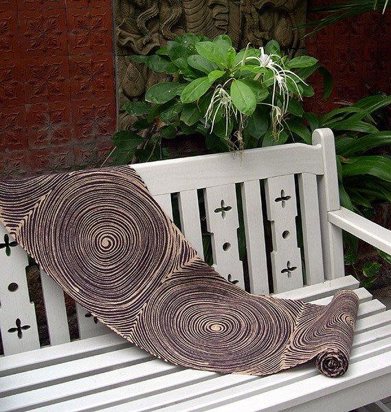 蠟染印花布峇里島泰國禪風掛畫抽象畫掛飾寢具抱枕窗簾紗龍棉麻混織1【心生活美學】
