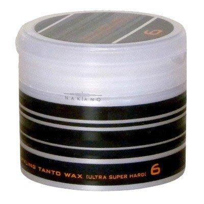 Nakano 骰子 髮蠟 6號 (黑) 90g STYLING WAX 中野製藥