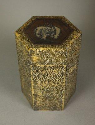 悅年堂 --- 鮫皮 六稜 蓋罐