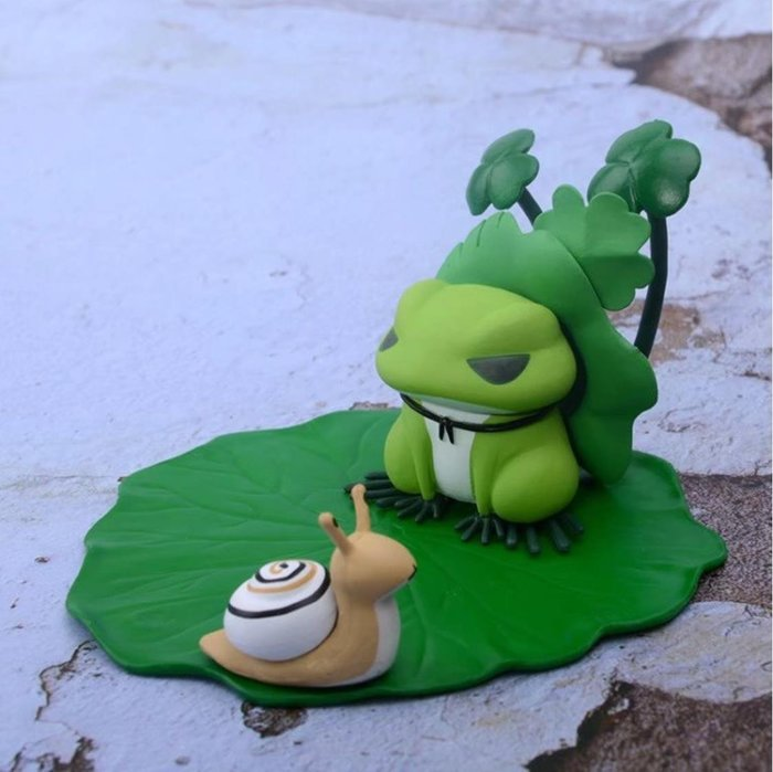 【AVANTER】代購 旅行青蛙 旅かえる 蝸牛 手機座 盒裝 模型 公仔 玩具 擺件 可動 現貨+預購款