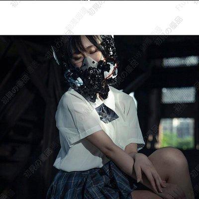 ♣小雅家居♣HANDCRAFT系列-MR.2兔科幻科技機能風耳機頭飾賽博朋克酒吧