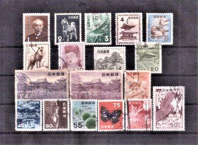【珠璣園】J5204A 日本郵票 - 1952-1957年 第2次動植物国宝切手 18全
