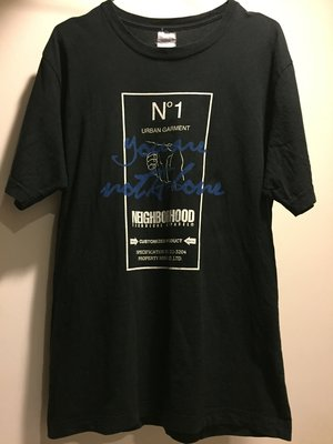 NEIGHBORHOOD 慈善TEE you are not alone 黑 M