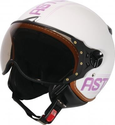 【台中富源】法國 ASTONE KSR-DD52 復古3/4安全帽 半罩 Gogoro 偉士牌 飛行員 W鏡片 白/紫