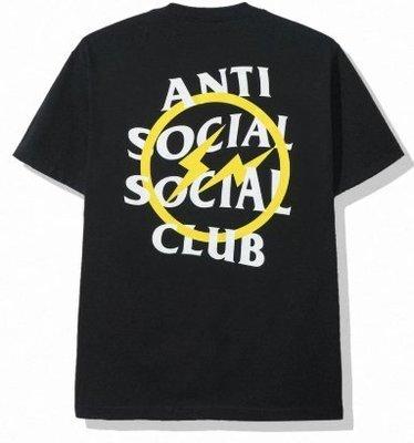 【日貨代購CITY】 FRAGMENT ASSC ANTI SOCIAL CLUB YELLOW BOLT TEE 現貨