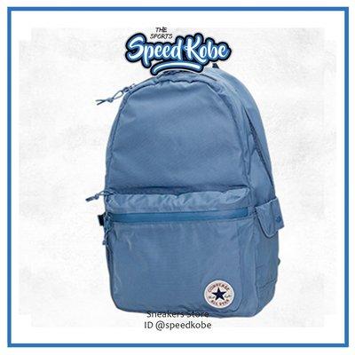 Converse後背包 CHUCK電腦包 書包 筆電夾層 防潑水 灰藍 10003994A