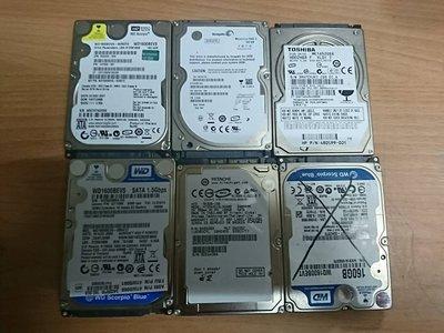 ☆寶藏點☆故障品 銷帳 報帳 SATA 2.5吋 160G 硬碟 售出不退